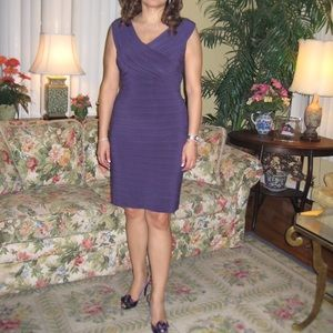 Adrianna Papell purple dress